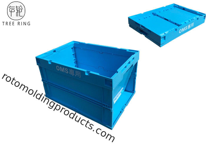 Transparent Solid Collapsible Plastic Crate For Camping Storage 600 * 400 * 360