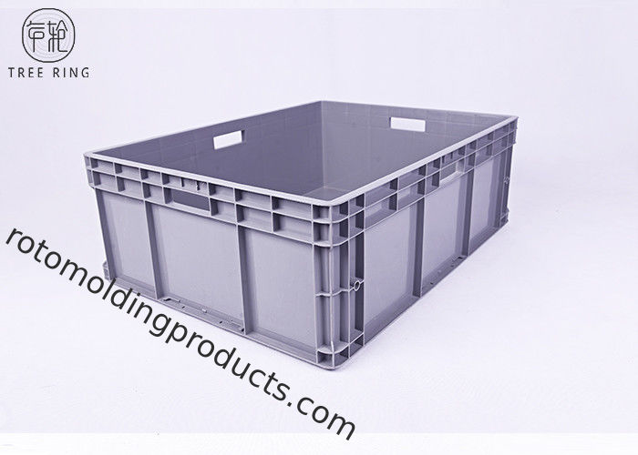 800 * 600 * 230 Euro Stacking Containers , Straight Sided Plastic Storage Boxes